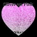 Silver on Pink
