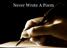 Never Wrote A Poem