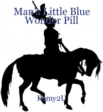 Man's Little Blue Wonder Pill