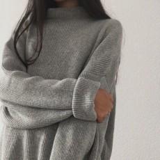 grey pullover.