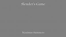Slender's Game