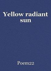 Yellow radiant sun