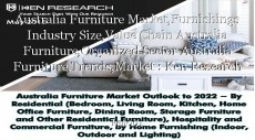 Australia Furniture Market,Furnishings Industry Size,Value Chain Australia Furniture,Organized Sector Australia Furniture,Trends,Market : Ken Research