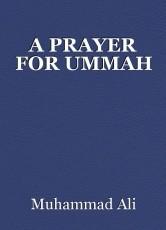 A PRAYER FOR UMMAH