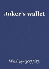 Joker's wallet