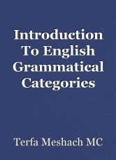 Introduction To English Grammatical Categories