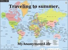 Traveling to summer.