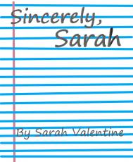 sincerely, sarah