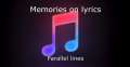 Memories on lyrics
