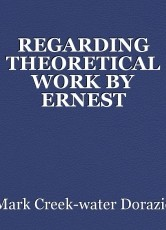 REGARDING THEORETICAL WORK BY ERNEST STERNGLASS