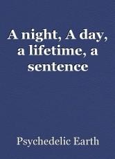 A night, A day, a lifetime, a sentence