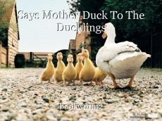 Says Mother Duck To The Ducklings