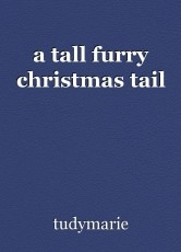 a tall furry christmas tail