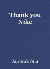 Thank you Nike