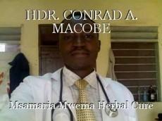 HDR. CONRAD A. MACOBE