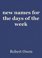 new names for the days of the week