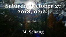 Saturday October 27 2018, 02:24