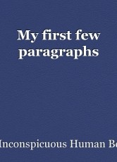 My first few paragraphs