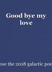 Good bye my love