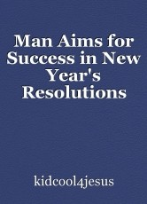 Man Aims for Success in New Year's Resolutions