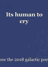 Its human to cry