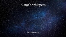 A star's whispers
