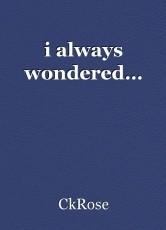 i always wondered…