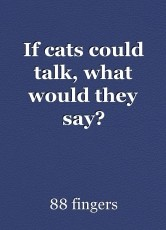 If cats could talk, what would they say?