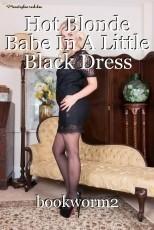 Hot Blonde Babe In A Little Black Dress