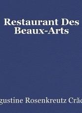 Restaurant Des Beaux-Arts