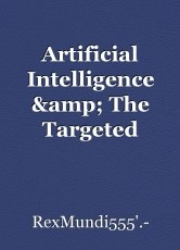 Artificial Intelligence & The Targeted Individuals