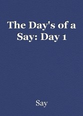 The Day's of a Say: Day 1