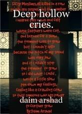 Deep hollow cries.