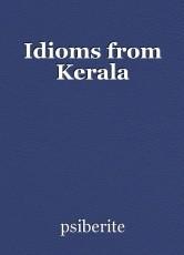 Idioms from Kerala