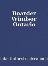 Boarder Windsor Ontario