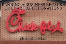 BANNING A BUSINESS BECAUSE OF CHARITABLE DONATIONS