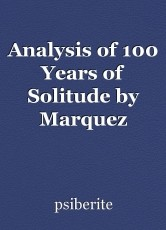 Analysis of 100 Years of Solitude by Marquez