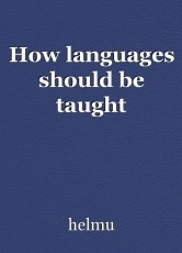 How languages should be taught