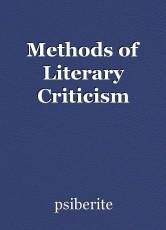 Methods of Literary Criticism