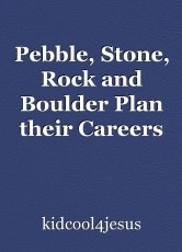 Pebble, Stone, Rock and Boulder Plan their Careers