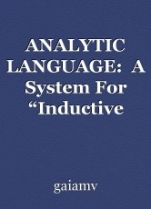 "ANALYTIC LANGUAGE:  A System For ""Inductive Metaphysics"""