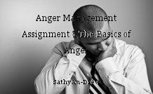 Anger Management Assignment 1 The Basics of Anger