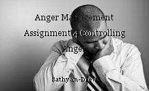 Anger Management Assignment 4 Controlling Anger