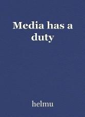Media has a duty