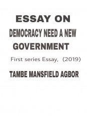 ESSAY ON DEMOCRACY NEEDS A NEW GOVERNMENT
