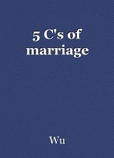 5 C's of marriage
