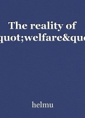 """The reality of """"welfare"""""""