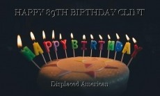 HAPPY 89TH BIRTHDAY CLINT