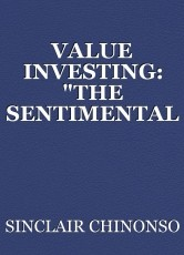 """VALUE INVESTING: """"THE SENTIMENTAL WAY"""""""