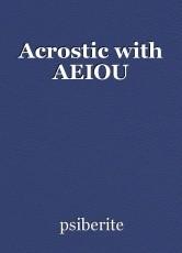 Acrostic with AEIOU